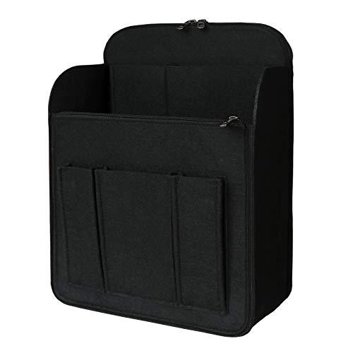 APSOONSELL Felt Backpack Organizer Insert Lightweight Backpack Shaper Foldable Tote Organizer for Handbag Tote Rucksack Shoulder Bag, Black, Xl