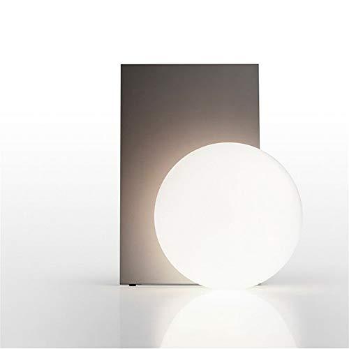 Bradoner Lámpara de escritorio, lámpara de noche de dormitorio, lámpara de cristal para sala de estar, lámpara de lectura de estudio, lámpara (color: latón)