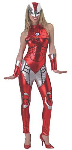 Rubies 's Miss Oficial seoras de Marvel Iron Man Resue Catsuit, Disfraz para AdultosExtra pequeo 68