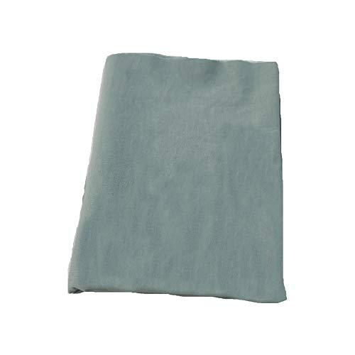 Aicvhin手芸 用 綿麻 無地 生地 高密度 約幅1.45m 裁縫 ハンドメイド 手作りキット オーガニック 用品 (薄青, 1m)