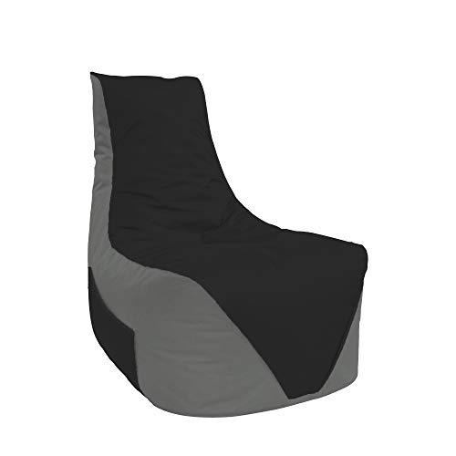 Lacasa Sitzsäcke Komfort Gamer mit Sitetentasche XL-XXL Kinder Erwachsene Indoor Outdoor Beanbag Sitzkissen (XXL - Erwachsene, Anthrazit-Schwarz)