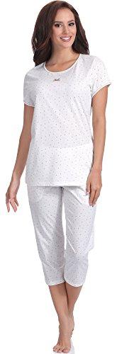 Italian Fashion IF Pijama Camiseta y Pantalones Mujer T1SZ1 0225 (Crudo, S)