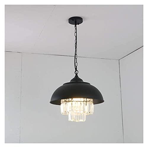 Palm kloset Industrial Wind Retro Iron Pot Lámpara LED Iluminación Decoración Ara?a de Cristal 1 * (41 * 37CM)