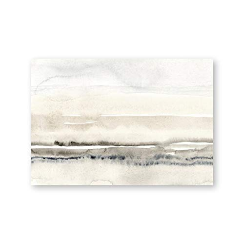 Pintura beige y gris acuarela lienzo impresin cartel minimalista moderno cuadro de arte de pared para sala de estar hogar sin marco lienzo decorativo pintura A120 70x100cm
