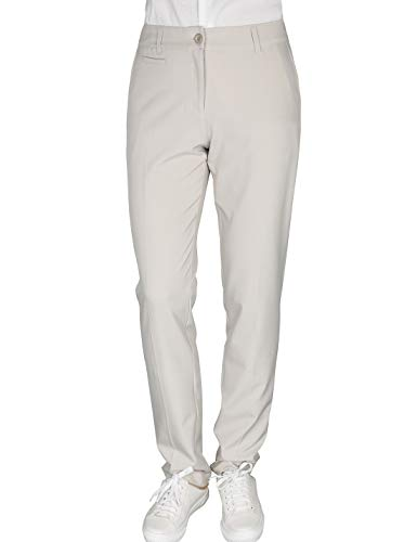 Women's Golf Pants Stretch Straight Lightweight Breathable Twill Work Chino Ladies Pants Size 8 Beige