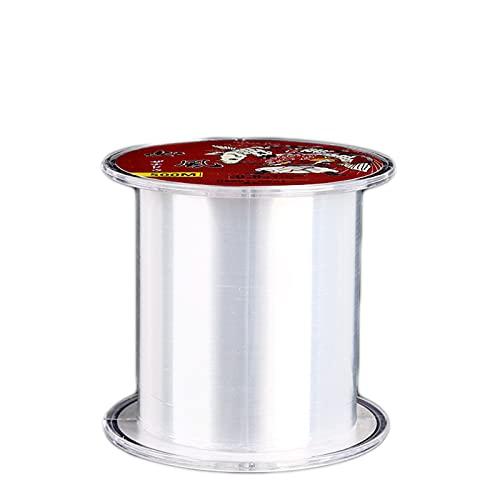 Sedal de monofilamento, Hilo de Pesca de Nylon 0.5mm, Línea de Pesca de monofilamento Transparente 500m, Se Puede Utilizar para Pescar, sedal para Colgar Decoraciones y Joyas
