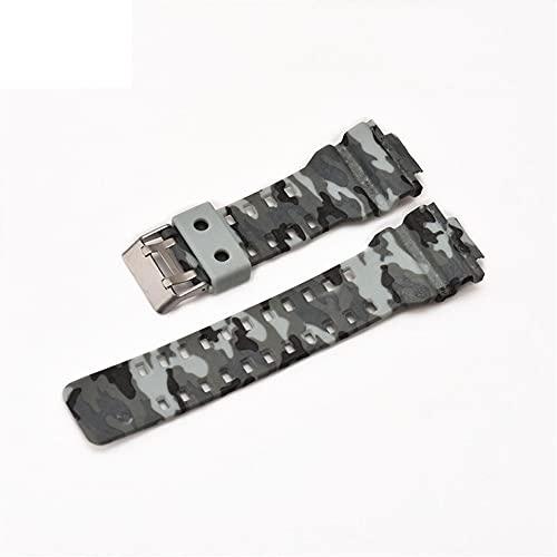 Correa De Reloj Banda de reloj de silicona de 16 mm compatible con Casio G-shock GA-110 GA-100 GA-120 Camuflaje de goma de camuflaje Hombres a prueba de agua Correa de banda compatible con G Shock Nyl