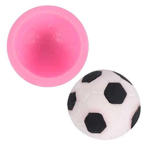 3D Fußball Polymer-Clay Resin Gießharz Silikonform, Selber Machen DIY Kunstharz Gießen, Zufällige Farbe