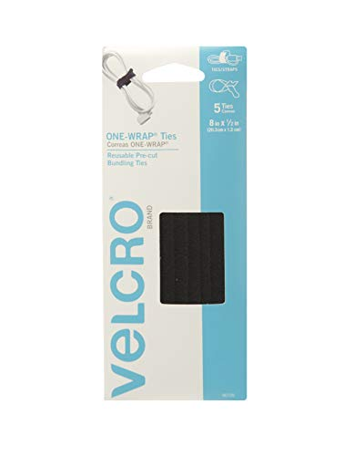 "VELCRO Brand ONE-WRAP Bundling Strap � Reusable Fasteners for Keeping Cords and Cables Tidy - 8"" x 1/2"", 10 Ties, Coyote"