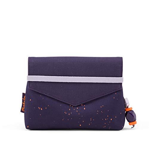 Satch Beauty Wallet – Kosmetiktasche, Zwei Fächer, mit Spiegel - Sprinkle Space, Orange