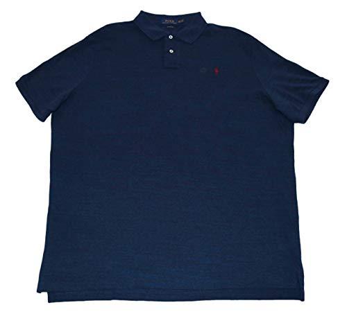 Polo Ralph Lauren Men Classic Fit Mesh Polo Shirt, Blue Heather (XX-Large)