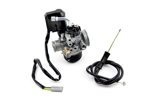 Tuning Vergaser 17,5mm mit E-Choke + Gasbowdenzug für AGM Motors Firejet 50 One 2-Takter