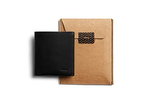 Bellroy Note Sleeve, Cartera de Piel Slim, edición con protección RFID Disponible (Máx. 11 Tarjetas, Efectivo y Monedas) - Black - RFID