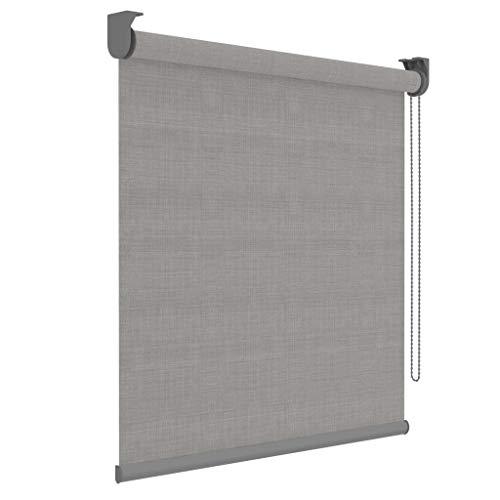 DECOSOL Rollo Grau Lichtdurchlässig 150x190cm Fensterrollo Jalousie Klemmrollo