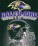 NFL Officially Licensed Gridiron Series Fleece Throw Blanket (Baltimore Ravens)