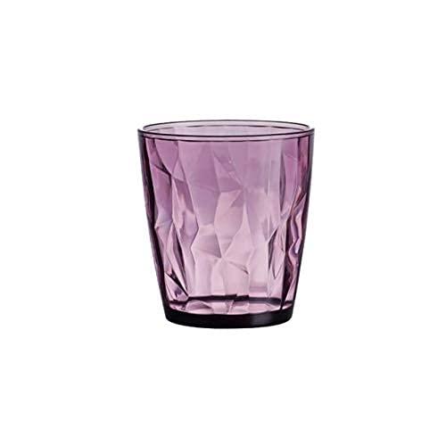 TFJJSQA Especial/Simple Premium acrílico Colorido Diamante Beber Gafas Barra Bebida Jugo Taza Hotel Restaurante Beber Taza Copas de Vino (Color : Purple)
