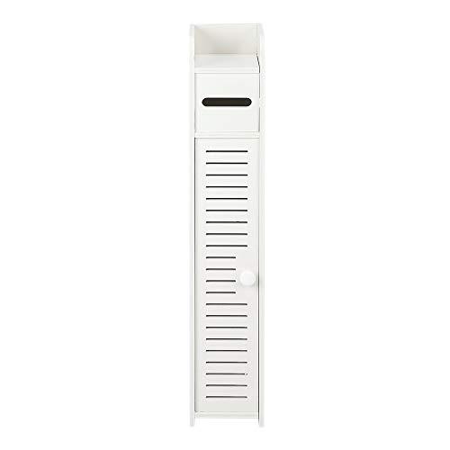 Waful Paper Towel Storage Narrow Cabinet 80cm High PVC (15.5x17x80) cm
