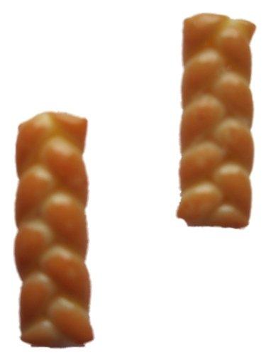 Ohrringe Stecker Ohrstecker handgemachter Hefezopf Teilchen Gebäck *693*