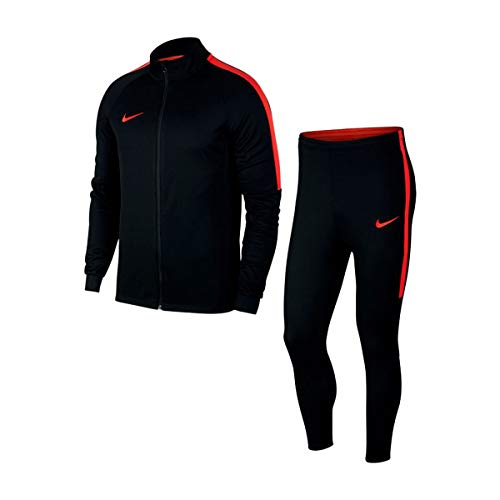 Nike Herren Dry Academy Trainingsanzug, Black/Light Crimson, L