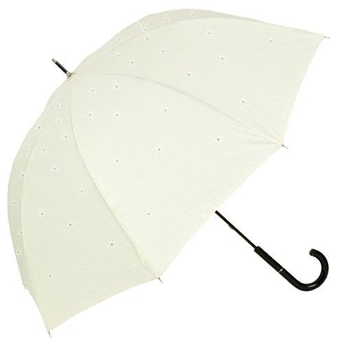 VON LILIENFELD® Regenschirm Damen Sonnenschirm Brautschirm Hochzeitsschirm Lea creme MADE WITH SWAROVSKI® ELEMENTS