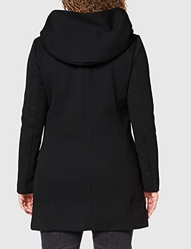 Only Onlsedona Light Coat Otw Noos Abrigo, Negro (Black Black), 38 (Talla del Fabricante: Medium) para Mujer
