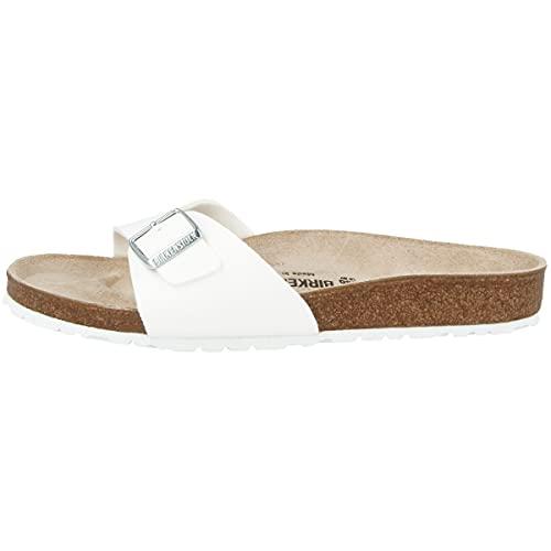 Birkenstock Schuhe Madrid Birko-Flor Schmal White (040733) 37 Weiss