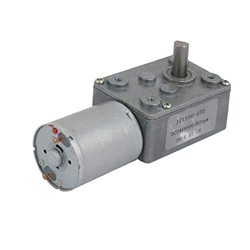 X-DREE JSX100-370 Reductor de turbina Turbina Caja de engranajes Motor DC de CC 24V 6500 RPM / 62 RPM (JSX100-370 Turbine Rapport Moteur Courant CONTINU DC 24V 6500RPM/62RPM