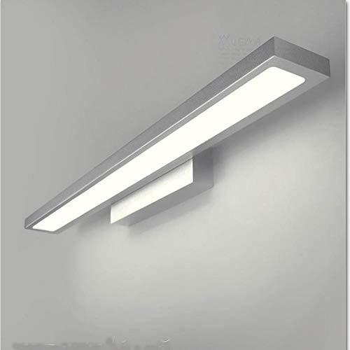 Einfache Aluminium LED Spiegel Scheinwerfer wasserdicht Anti-Fog Bad Bad Lampe Wandleuchte...