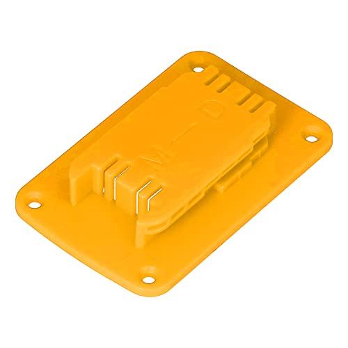 Soporte De Herramientas, Soporte De Almacenamiento De Baterías Soporte De Almacenamiento De Batería De Litio ABS con Orificios para Tornillos para M18 Herramientas De 18 V para La Serie(Amarillo)