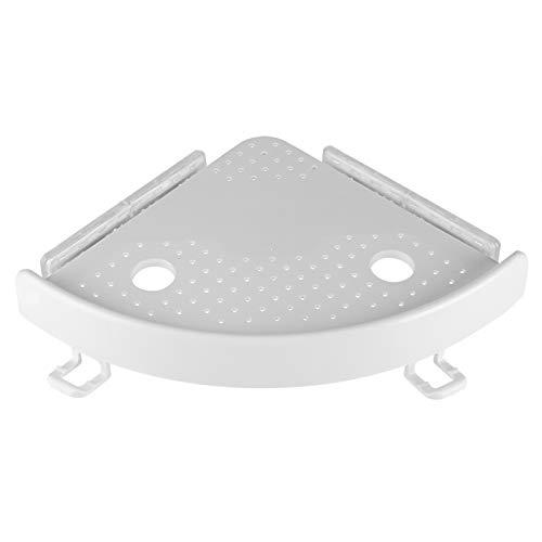 Soporte de gancho de estante de esquina de ABS multifunción con ventosa de PVC Cocina de baño