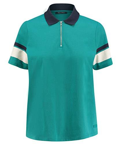 Marc O'Polo Damen 903242953023 Poloshirt, Grün (Combo Jersey I45), Medium
