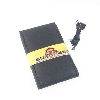 Stuurhoes met draad en naalden van kunstleer, diameter 38 cm, zakdoek Zwart