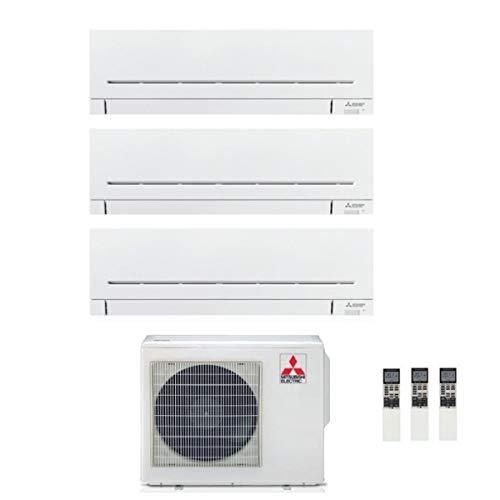 Serie MSZ-AP Plus - Climatizzatore Trial Split 9000 + 9000 + 12000 Btu, Inverter, Gas R32