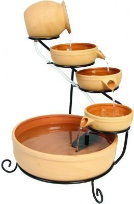 ASC Smart Solar Terracotta Sundance Ceramic Solar Water Fountain