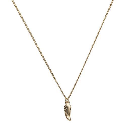 Draeger Paris – Collar de fantasía de metal dorado, diseño de alas de ángel – sin níquel – 45 cm – Ideal para regalo personalizado y diseño