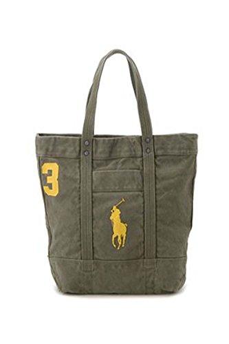 Polo Ralph Lauren Big Pony Top Zip Tote Bag (Green)