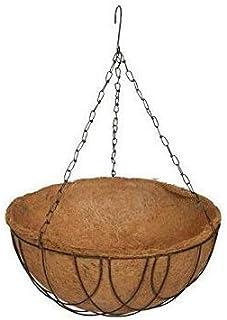 Coir Hanging Round Bigger Size Basket 14 INCH 1 Piece - Coco Gardening POTS with Stand - Flower PotS Hanger Garden Decorat...