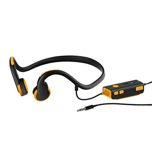 Draagbare Beengeleiding Hoofdtelefoon Bluetooth Stereo Headsets Waterdichte Sport Koptelefoon HD Mic Oorhaak Nekband