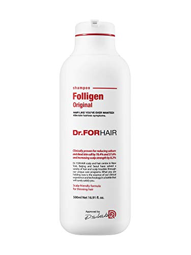 [Dr.FORHAIR] Folligen Shampoo (500 ml/16.9 fl.oz) for Relieving Hair Loss, Hair Loss Prevention [Paraben FREE, Silicone FREE, Sulfate FREE]
