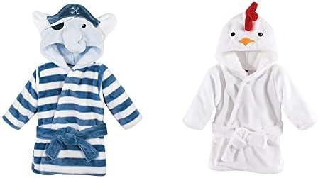 Hudson High quality Baby Boy Plush Animal Face Pirate Elepha Bathrobe 2-Pack Denver Mall
