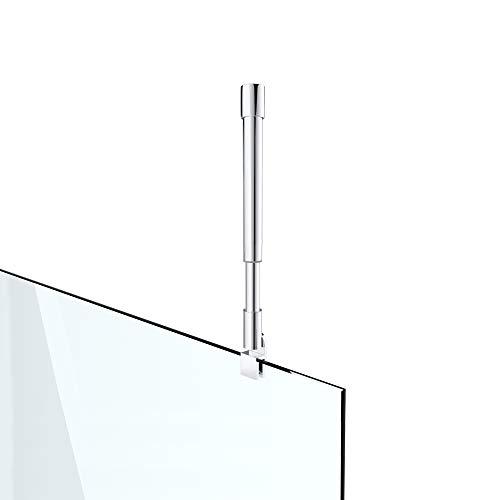 Haltestange Stabilisator für Duschwände Decke Dusche Duschabtrennung Edelstahl rund Verstellung 300-450 mm Glasstärken 6-10 mm GS33