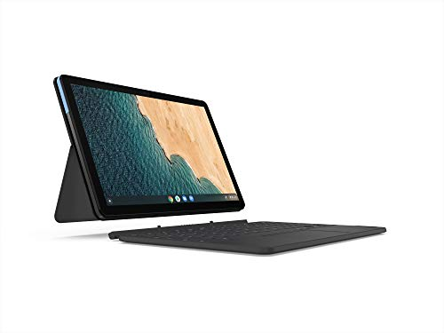 Lenovo Chromebook Duet, 2 en 1, pantalla WUXGA (1920 x 1200), MediaTek Helio P60T, 4GB LPDDR4X RAM, 64GB eMCP SSD, gráficos integrados ARM G72 MP3, Chrome OS, ZA6F0031US, azul hielo + gris hierro