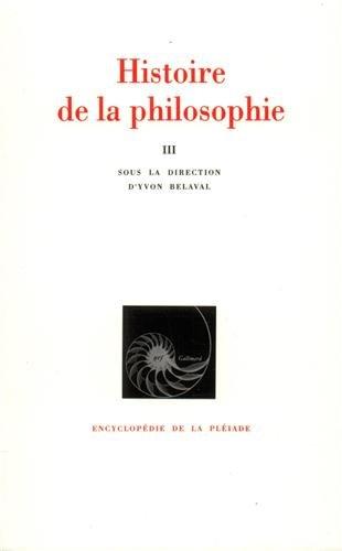 Histoire de la philosophie, tome 3