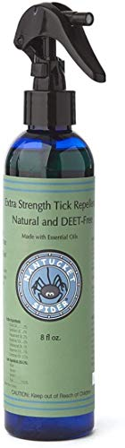 Nantucket Spider Extra Strength Tick Repellent Spray - 8 fl oz | Deet Free, Natural Tick Repellent for People | Made in The USA with 100% Organic Essential Oils