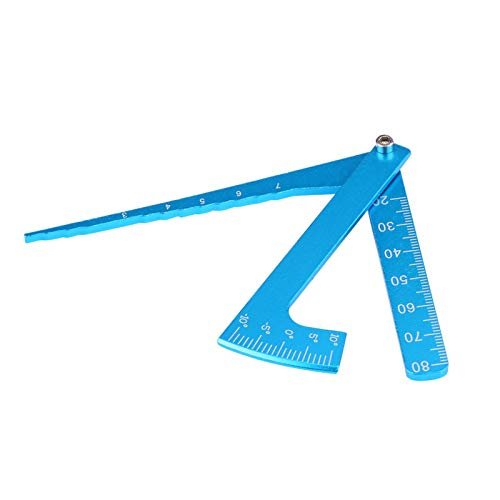 Blaues verstellbares Lineal RC-Zubehör Hohe Robustheit für Freunde Familie Jungen Mädchen