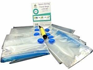 YISAMA sacchetti per sottovuoto per viaggi o Pack Storage Bags riutilizzabili sottovuoto salvaspazio (423,62x 31,5+ pompa di aspirazione)