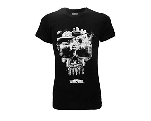 Fashion UK T-Shirt Call of Duty Warzone Teschio Skull WZ Originale Ufficiale Nera Adulto e Ragazzo (L)