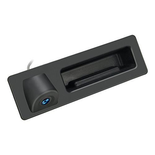 Kalakass Wasserdicht 170 ° umkehrbare Fahrzeug-spezifische Griffleiste Kamera integriert in Koffergriff Rückansicht Rückfahrkamera für E60 E61 E70 E71 E72 E82 E88 E84 E90 E91 E92 E93 X1 X5