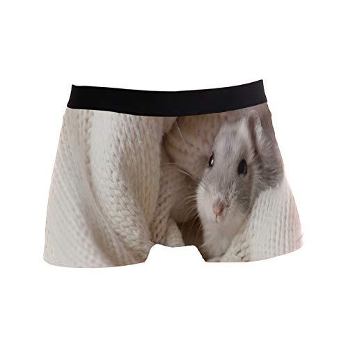 S-XXL Herren Boxer Slips Boxer Unterwäsche Komfort Hamster Piggy Mouse