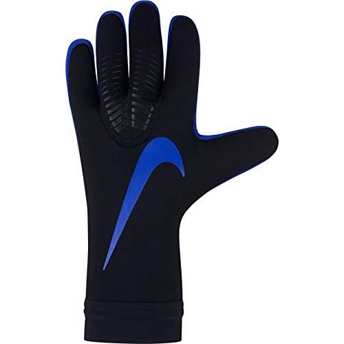 Nike Erwachsene Mercurial Goalkeeper Touch Pro Torwarthandschuhe, Black/Metallic Silver/Racer Blue, 8